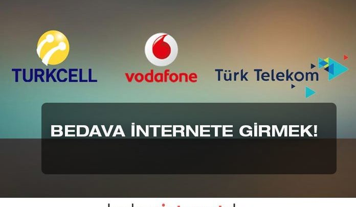 turkcell vodafone avea bedava internet