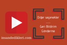 Photo of Youtube Politikaları | Diğer seçenekler – Geri Bildirim Gönderme