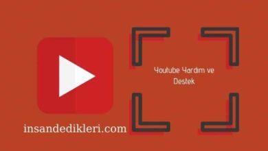 Photo of Youtube Yardım ve Destek